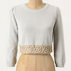"""Anthropologie """"knitted & knotted"""" cropped sweater"""